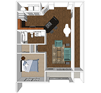 Aster - 1 Bedroom and 1 Bath Apartment in Harrisonburg