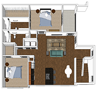 Azalea - 2 Bedroom and 2 Bath Apartment in Harrisonburg