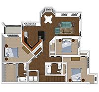 Cadence - 3 Bedroom and 2 Bath Apartment in Harrisonburg