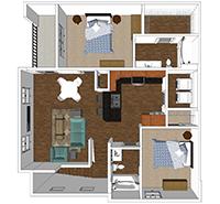Madison - 2 Bedroom and 2 Bath Apartment in Harrisonburg