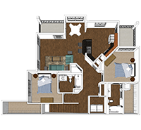 Summit - 2 Bedroom and 2 Bath Apartment in Harrisonburg
